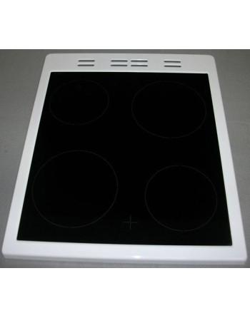 Стъкло плот печка BEKO с рамка (бяла)