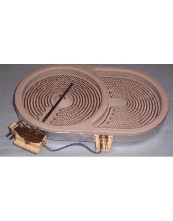 Плоча за печка BEKO (стъклокерамична кръг в елипса, D140X250, 1100/2000W)